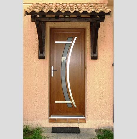 Fabrication sur mesure de porte d 39 entr e contemporaine en pvc sur istres - Fabricant de porte d entree ...